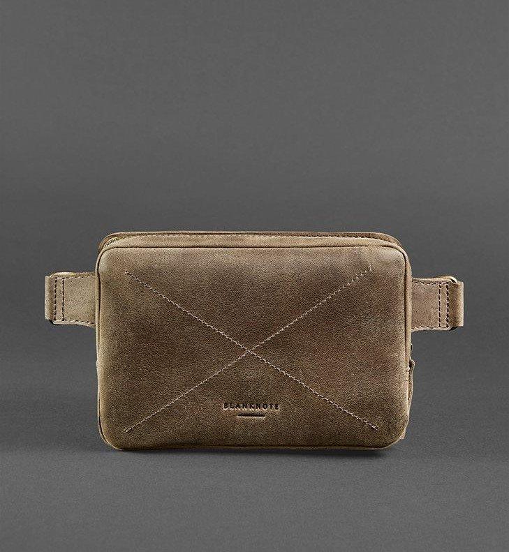Кожаная сумка на пояс Blanknote Орех 6414 - фото 1