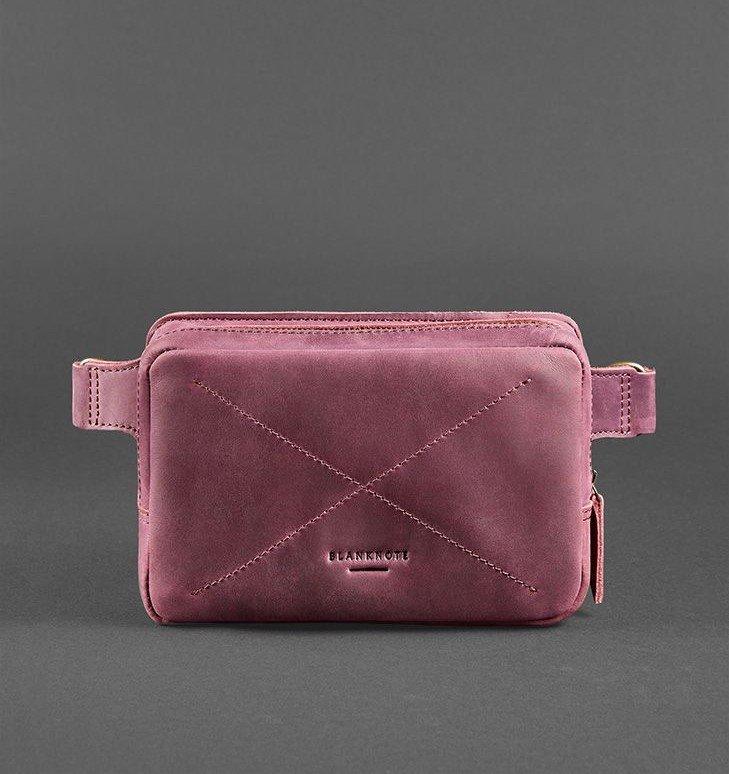 Кожаная сумка на пояс Blanknote Виноград 6409 - фото 1