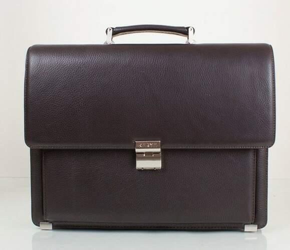Мужской кожаный портфель Karya 10010 - фото 1