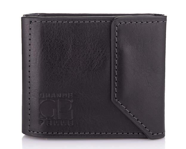 Мужской кожаный зажим для денег на магните Grande Pelle 18607 - фото 1