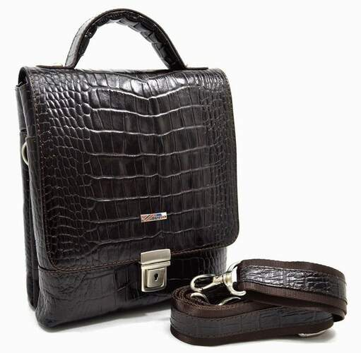 Мужская кожаная сумка DESISAN 11659 - фото 1