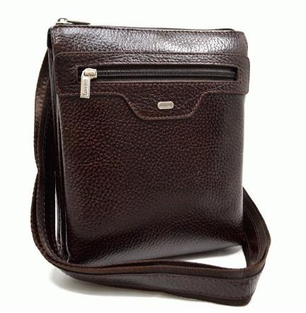 Мужская кожаная сумка DESISAN 18508 - фото 1