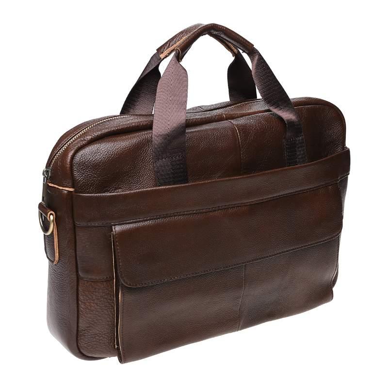 Мужская кожаная сумка Borsa Leather 18432 - фото 1