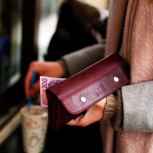 Женский кожаный кошелек Двойной Level 10307 - фото 1