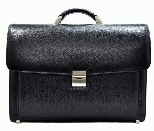 Мужской кожаный портфель DESISAN 10722 - фото 1