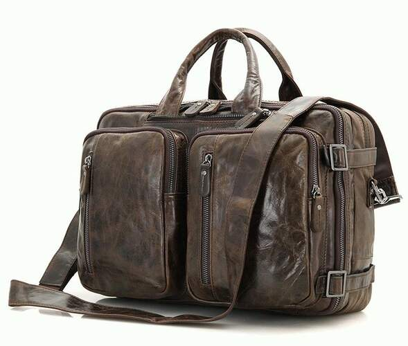 Мужская кожаная сумка 3в1 7014C-1 Buffalo Bags 5181 - фото 1