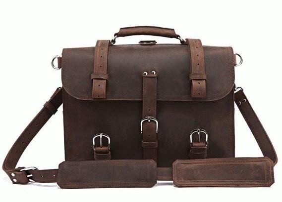 Мужской кожаный  деловой портфель 7072R-1 Buffalo Bags 5104 - фото 1