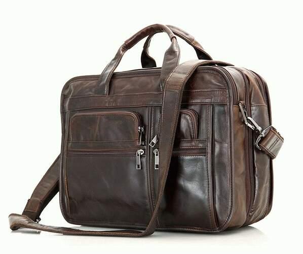 Универсальная мужская кожаная сумка 10245 - фото 1