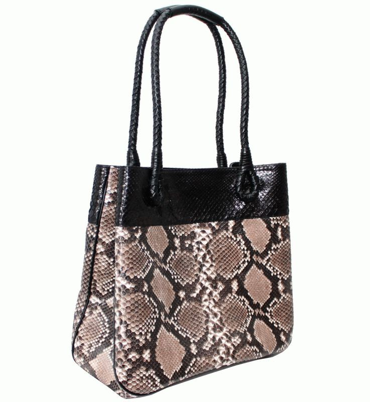 920432d2f2b7 Женская сумка из кожи питона - 2904 Black_Natural - купить в Киеве ...