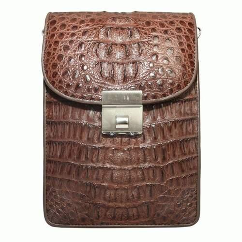 f143dd87fcac Мужская сумка из кожи крокодила - 1291 Brown - купить в Киеве по ...
