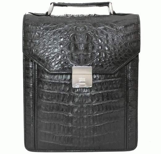 2349131acdbf Мужская сумка из кожи крокодила - 1410 Black - купить в Киеве по ...