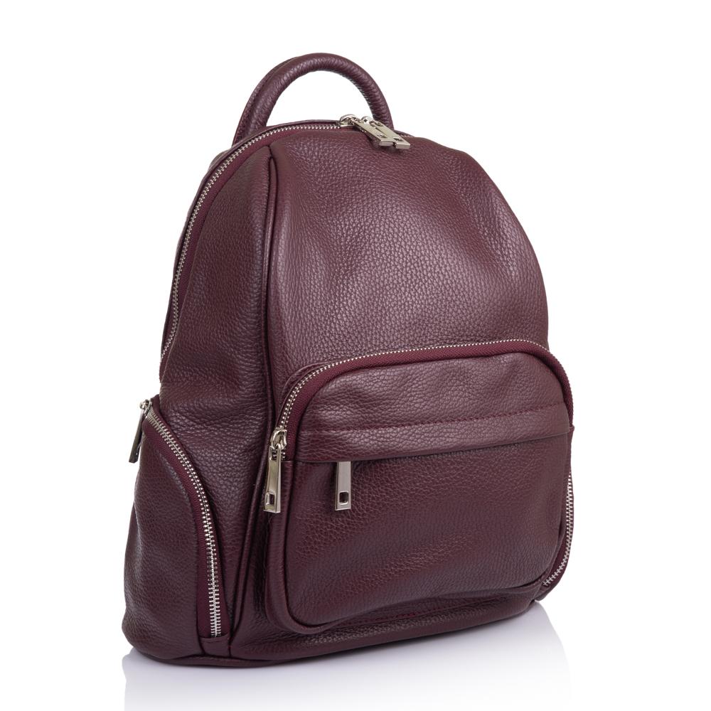 590d59ca36a6 Кожаный рюкзак Virginia Conti Размер: 29 х 33 х 14 см Цвет: бордовый  Материал: натуральная кожа