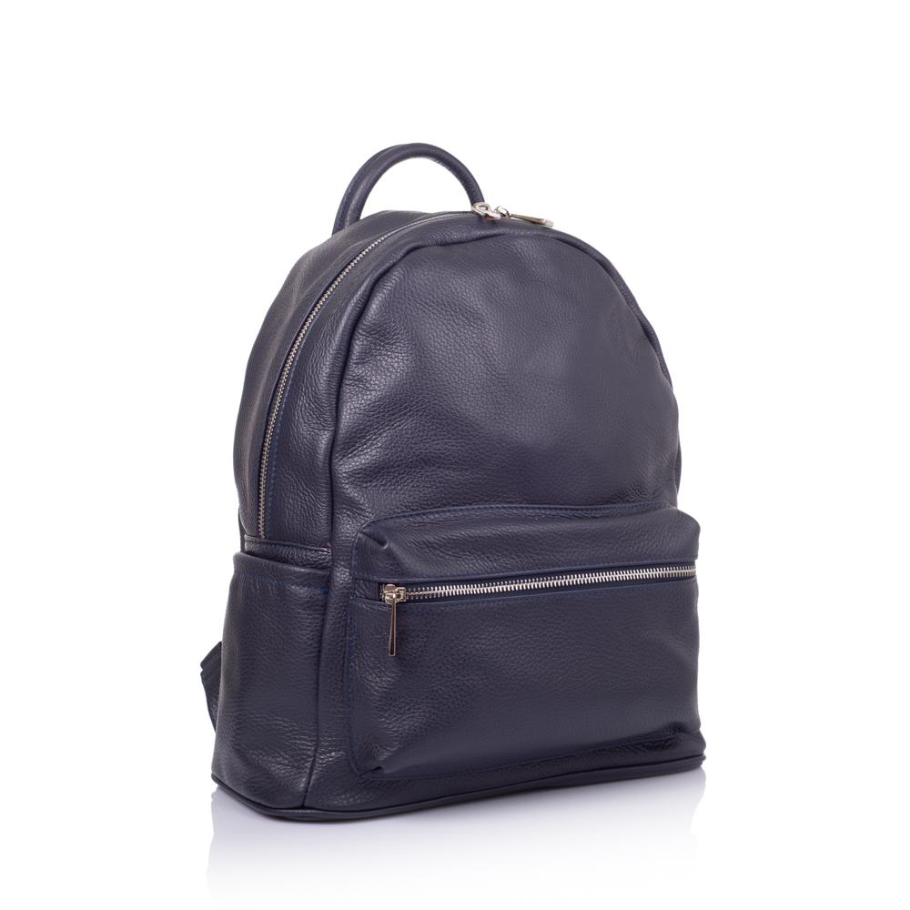 64e3df3a4cdb Кожаный рюкзак Virginia Conti Размер: 29х35х13 см Цвет: синий Материал:  натуральная кожа