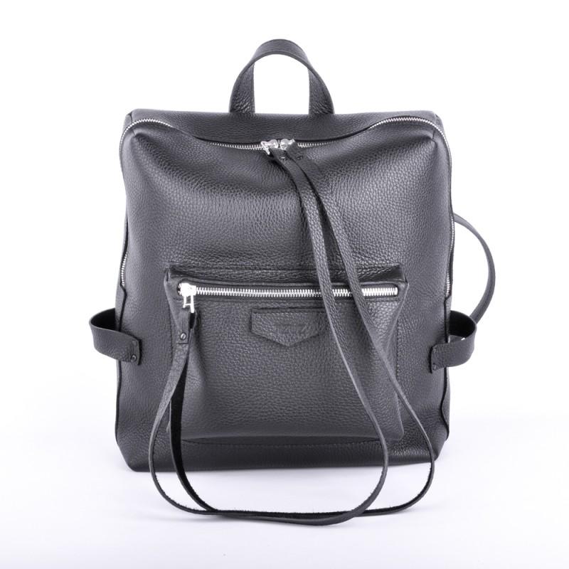 bf3759829df6 Кожаный рюкзак JIZUZ Virgo Black Размер: 26 х 30 х 15 см Материал:  натуральная кожа Цвет: черный Внутренняя подкладка из ткани. Длина ручки:  20 см.