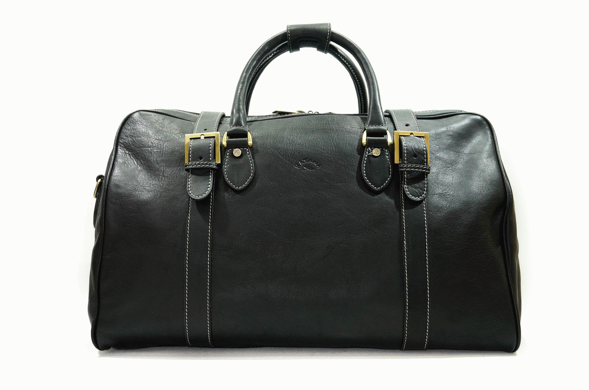6731a0d67e20 Кожаная дорожная сумка KATANA Размер: 50 x 32 x 26 см Цвет: черный  Материал: телячья кожа Стильная и вместительная дорожная сумка из  натуральной кожи.