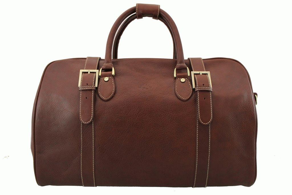 7afb0faa1608 Кожаная дорожная сумка KATANA Размер: 50 x 32 x 26 см Цвет: коричневый  Материал: телячья кожа Стильная и вместительная дорожная сумка из  натуральной кожи.