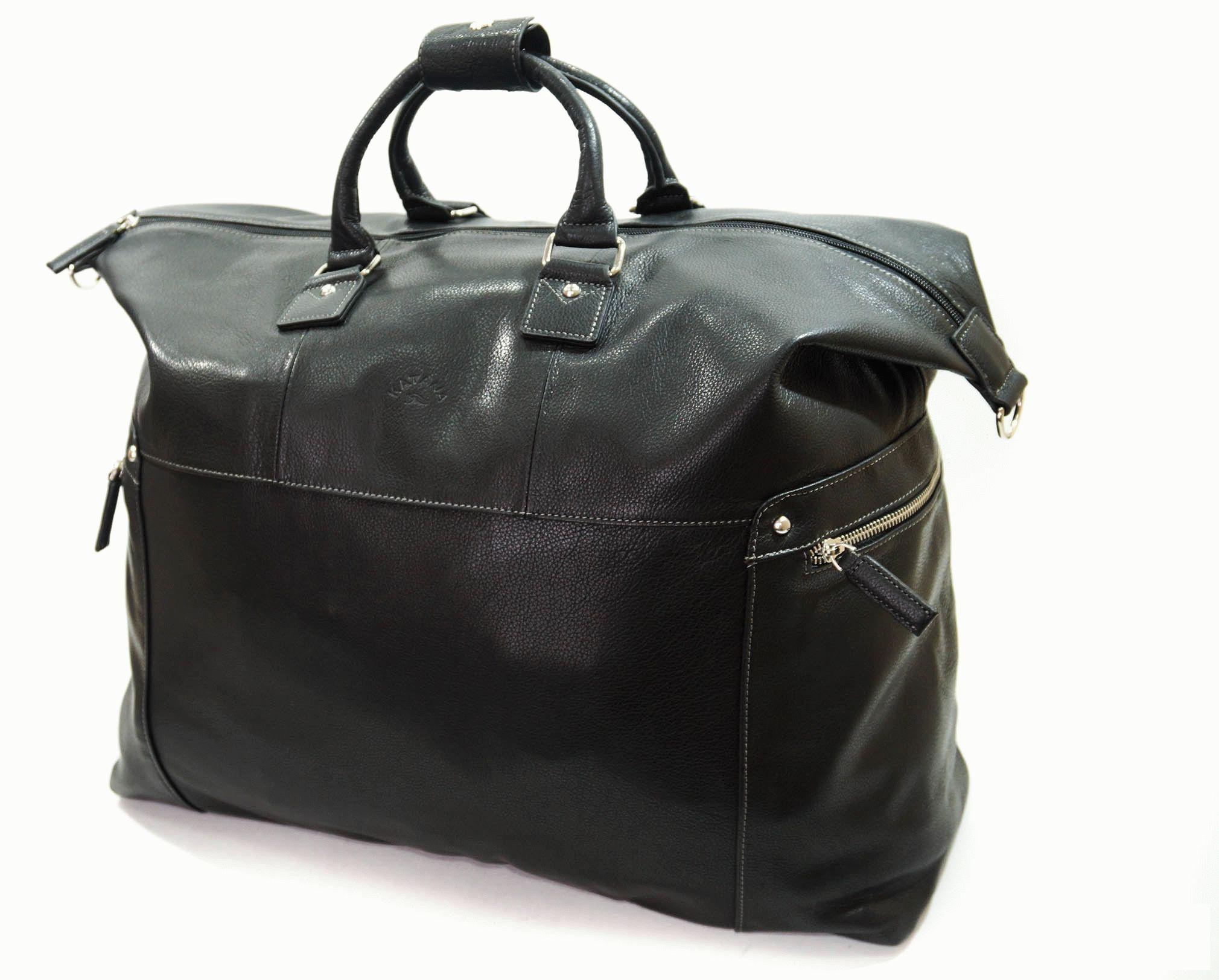 d599bf29d013 Кожаная дорожная сумка KATANA Размер: 50x32x20 см Цвет: черный Материал:  телячья кожа Стильная и вместительная дорожная сумка из натуральной кожи.