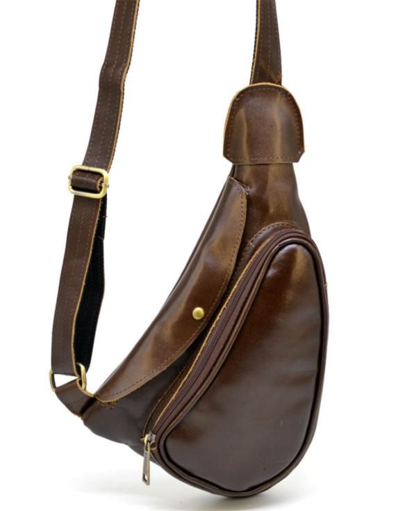 Кожаный рюкзак через плечо TARWA 19358 - фото 1