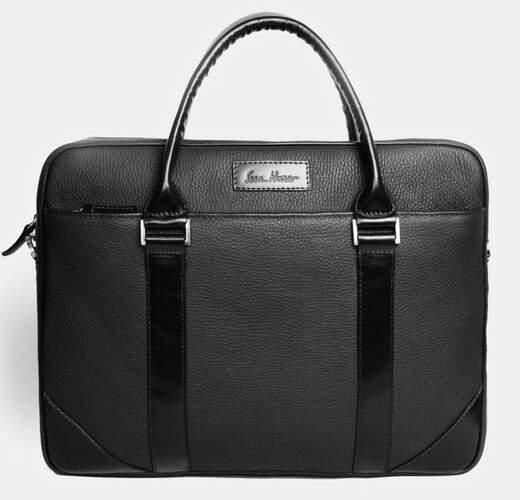 """Кожаный портфель для ноутбука 15"""" Issa Hara 6639 - фото 1"""