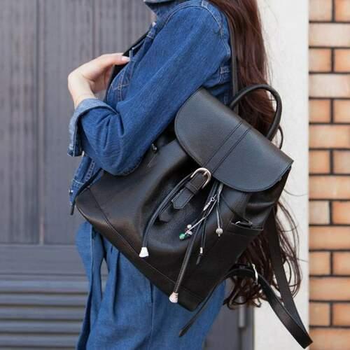 Кожаный рюкзак BlankNote Олсен оникс 10094 - фото 1