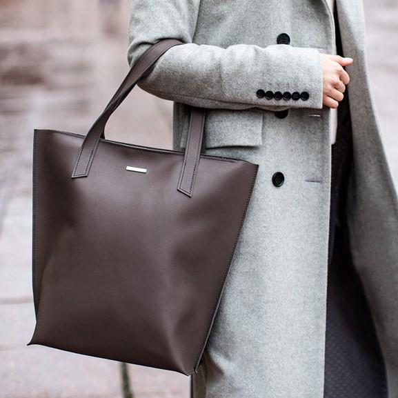Женская кожаная сумка Blanknote D.D. Мокко 12657 - фото 1