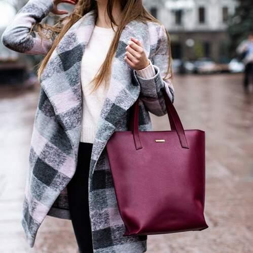 Женская кожаная сумка Blanknote D.D. Виноград 12654 - фото 1