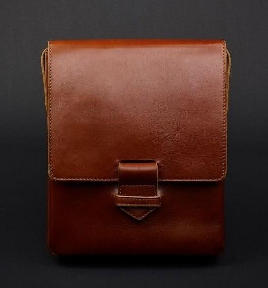 Кожаная сумка-мессенджер BlankNote Esquire, коньяк 12234 - фото 1