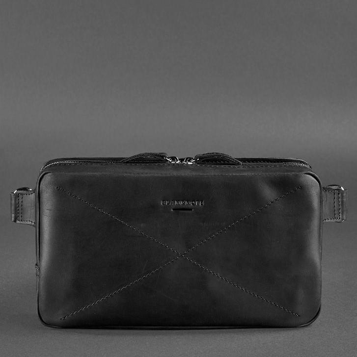 Кожаная сумка на пояс DROPBAG MAXI (Графит) 13961 - фото 1
