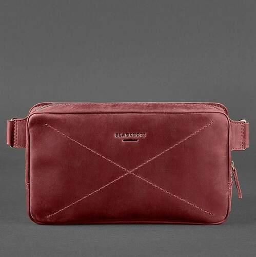 Кожаная сумка на пояс Blanknote DROPBAG MAXI 13960 - фото 1
