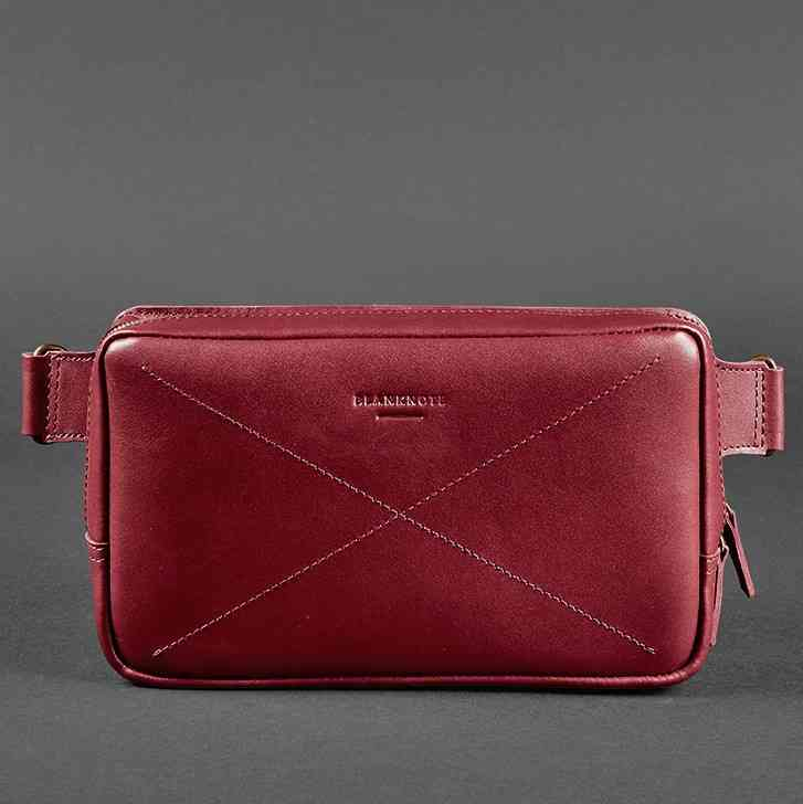 Кожаная сумка на пояс Blanknote DROPBAG MAXI 12216 - фото 1