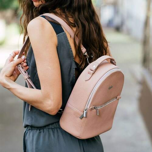 Кожаный рюкзак BlankNote Kylie барби 12220 - фото 1