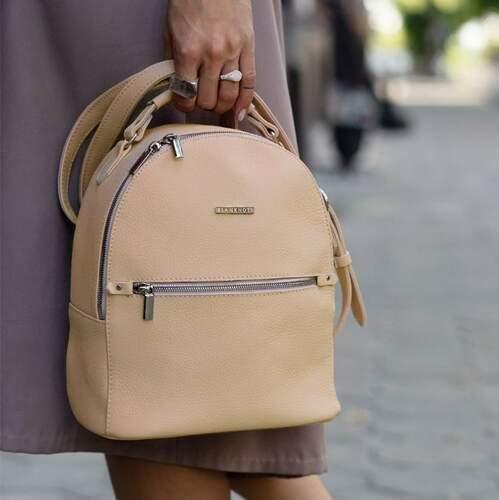 Кожаный рюкзак BlankNote Kylie крем-брюле 12221 - фото 1