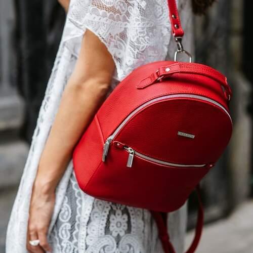 Кожаный рюкзак BlankNote Kylie рубин 12224 - фото 1
