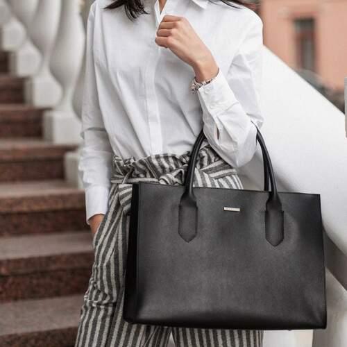 Женская кожаная сумка Blanknote Blackwood 12659 - фото 1