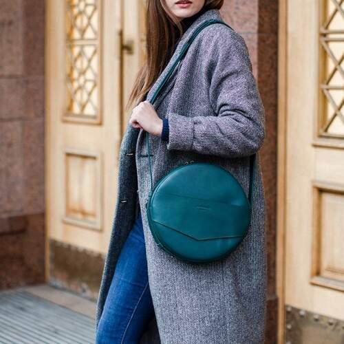Круглая сумка-рюкзак BlankNote MAXI Малахит 12640 - фото 1