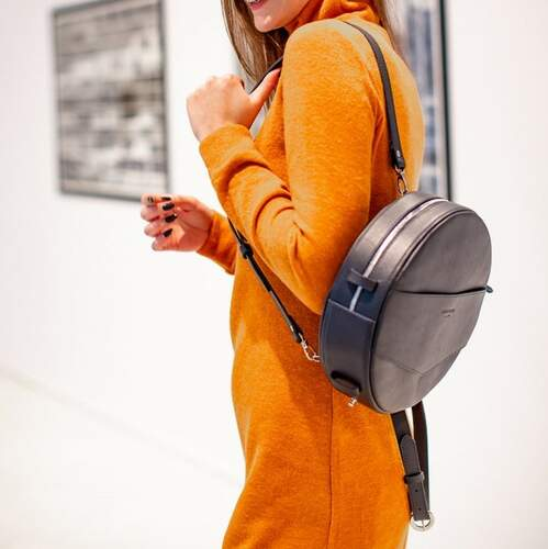 Круглая сумка-рюкзак BlankNote MAXI Синий 12636 - фото 1