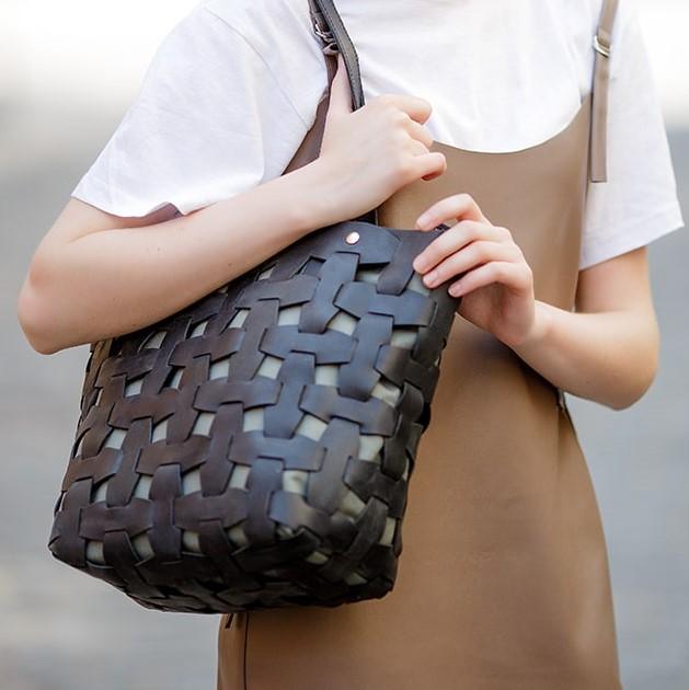 Женская кожаная сумка Blanknote Пазл L 13998 - фото 1
