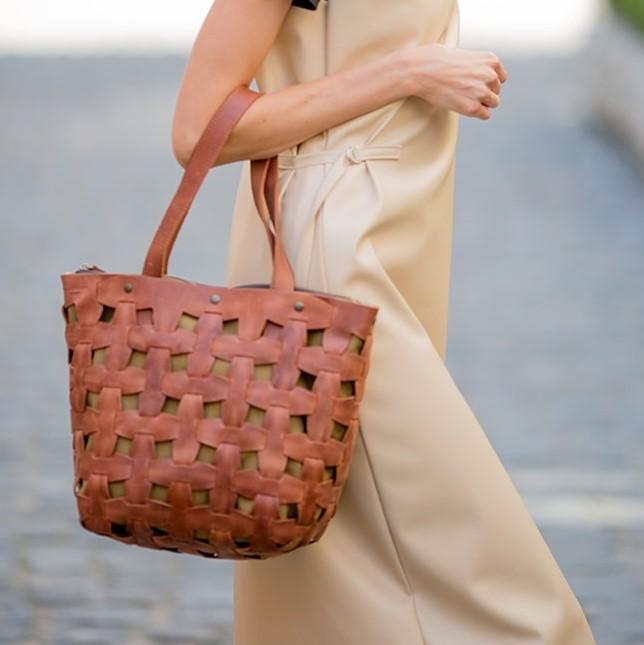 Женская кожаная сумка Blanknote Пазл L 14002 - фото 1