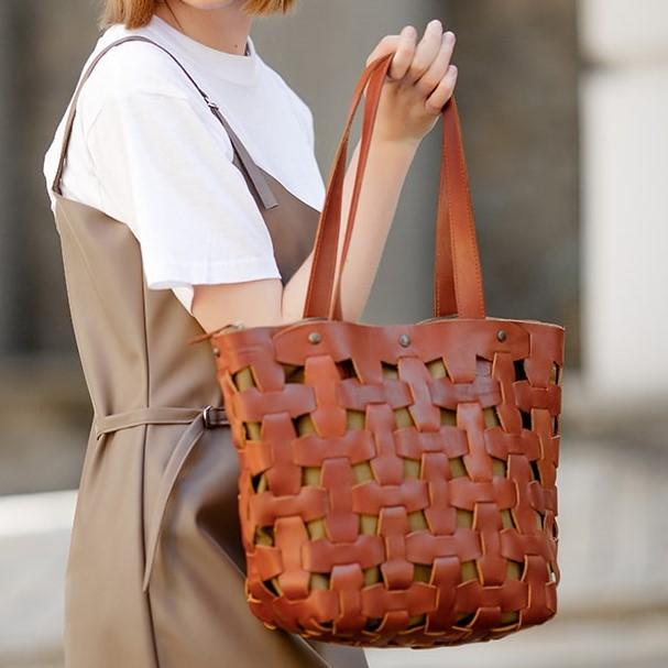 Женская кожаная сумка Blanknote Пазл L 14001 - фото 1