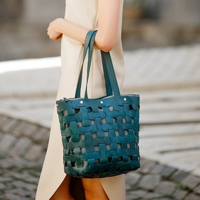 Женская кожаная сумка Blanknote Пазл L 14003 - фото 1