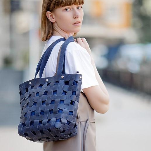 Женская кожаная сумка Blanknote Пазл L 14004 - фото 1