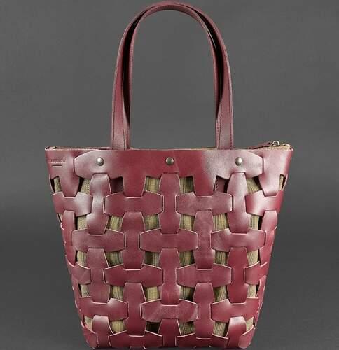 Женская кожаная сумка Blanknote Пазл L 14006 - фото 1