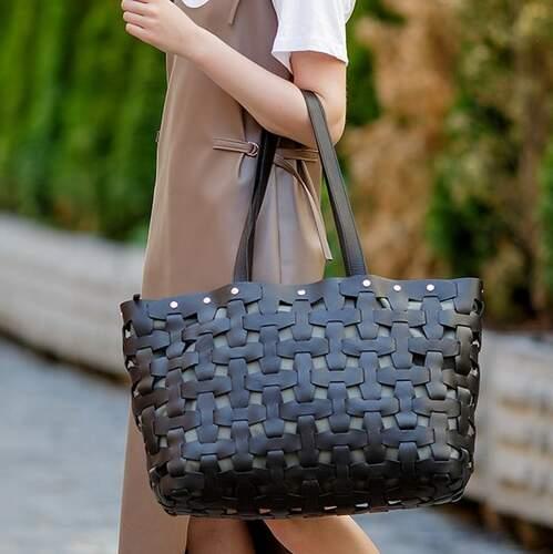 Женская кожаная сумка Blanknote Пазл XL 14007 - фото 1