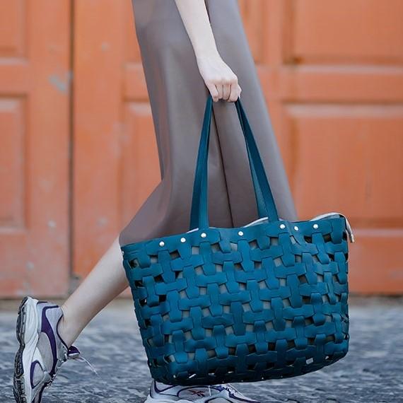 Женская кожаная сумка Blanknote Пазл XL 14009 - фото 1