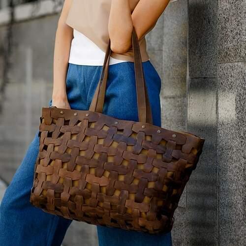Женская кожаная сумка Blanknote Пазл XL 14011 - фото 1