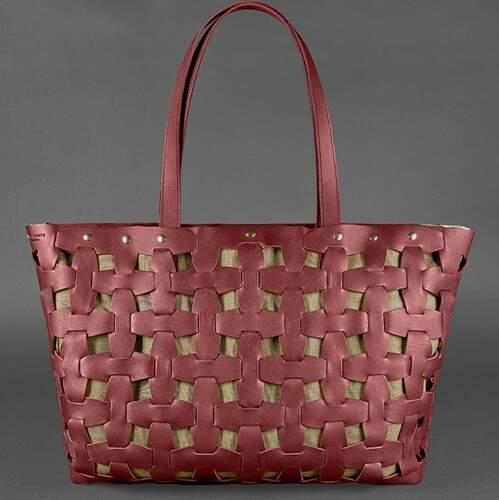 Женская кожаная сумка Blanknote Пазл XL 14012 - фото 1