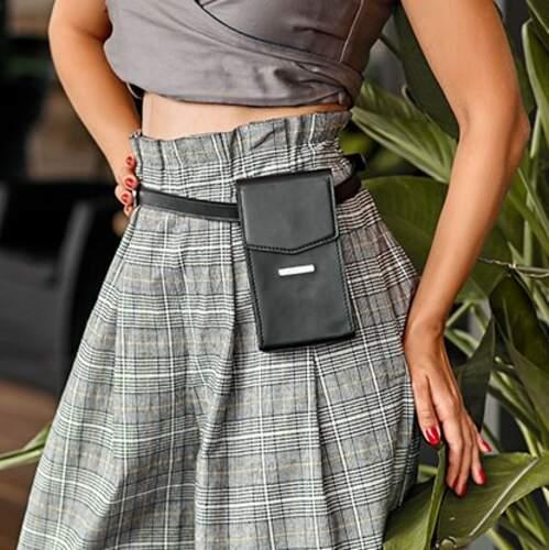 Женская кожаная сумка Mini поясная/кроссбоди 14030 - фото 1