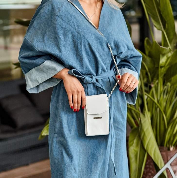 Женская кожаная сумка Mini поясная/кроссбоди 14031 - фото 1