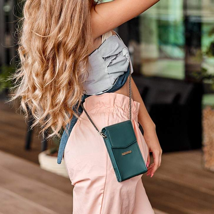 Женская кожаная сумка Mini поясная/кроссбоди 14033 - фото 1