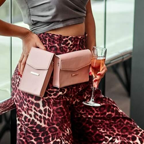 Набор женских кожаных сумок Mini поясная/кроссбоди 14042 - фото 1